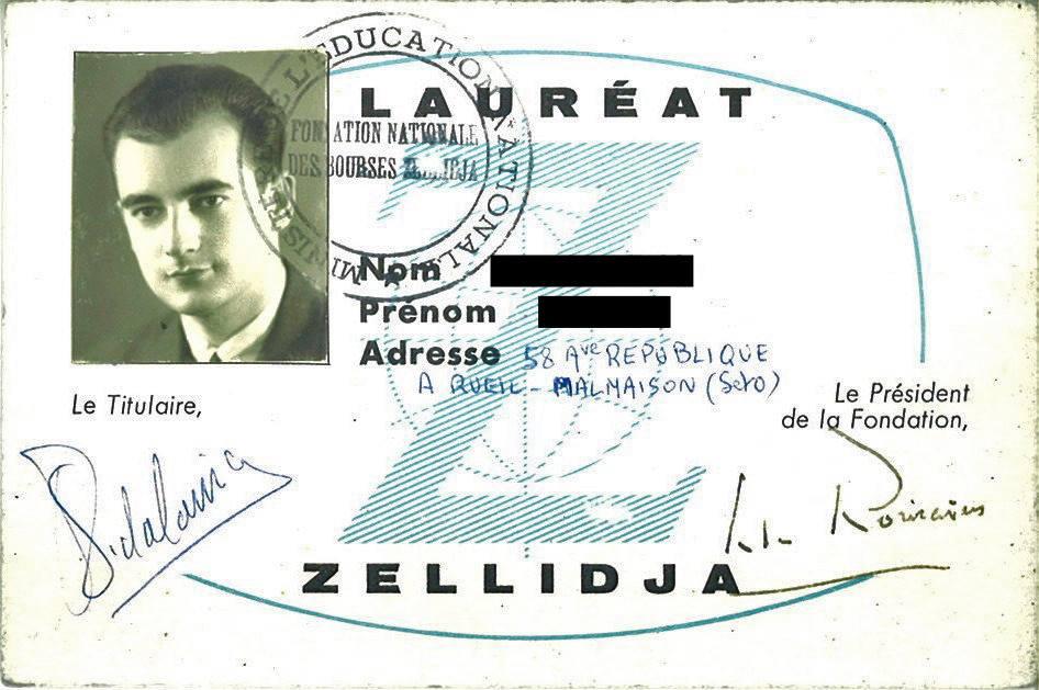 Carte de Lauréat Z en 1947, signée par l'académicien Jules Romains