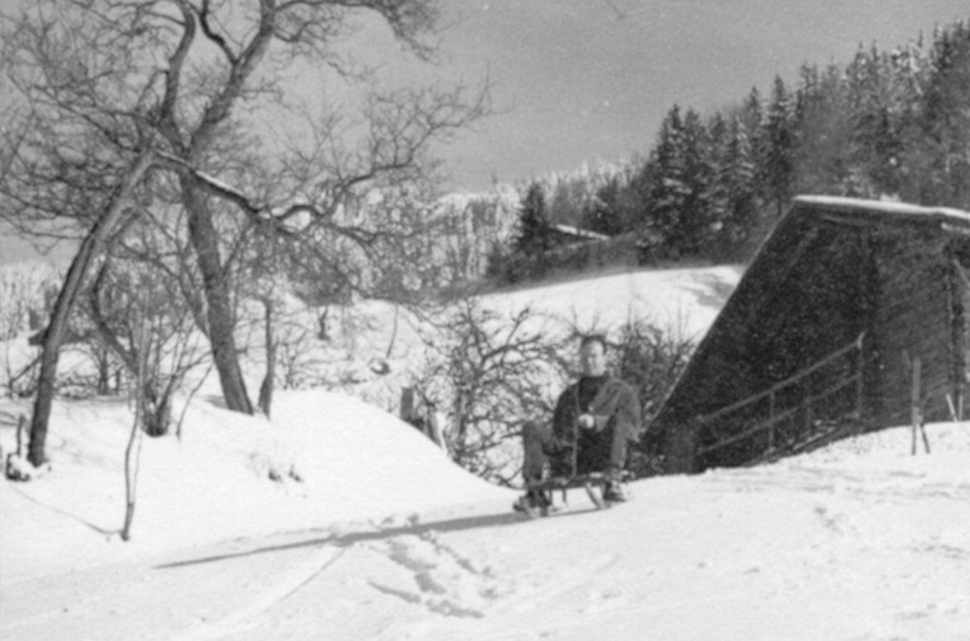 Le chalet de Manigod, un hiver
