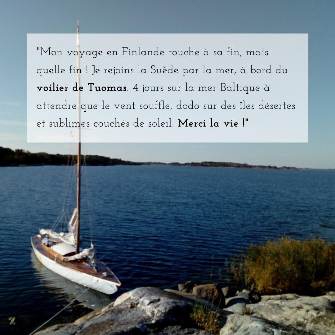 Chloé, partie en Finlande puis à l'Île de Pâques