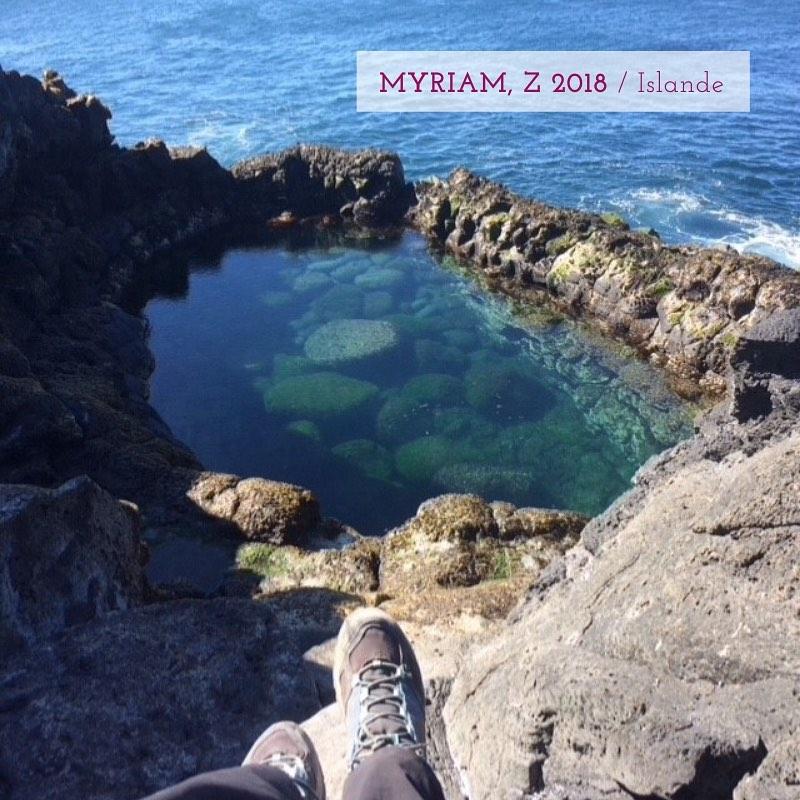 Myriam, partie en Islande en 2018